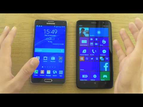 Nokia Lumia 1320 vs. Samsung Galaxy Note 4 - Comparison Review!