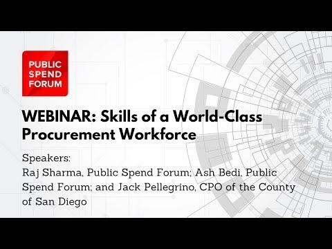 Skills of a World-Class Procurement Workforce - Public Spend Forum Webinar