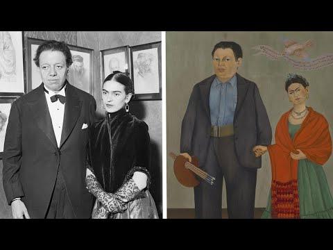 Frida Kahlo And Diego Rivera's Wedding Portrait
