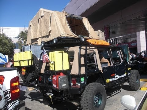 Sema Jeep With A Cummins Diesel Engine Youtube