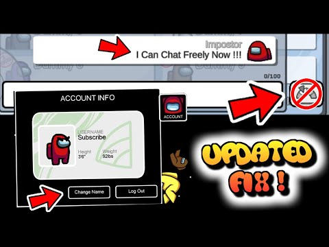 HOW TO USE CUSTOM NAME U0026 TURN OFF QUICK CHAT AFTER AIRSHIP UPDATE | AMONG US