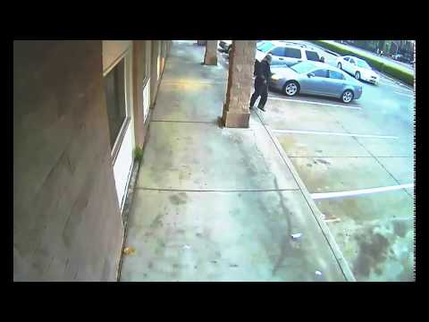 Catch of the Month - Car Flips Man and Rams Building - Shopping Center Security