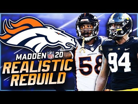 Rebuilding The Denver Broncos   AJ Epenesa Is Unblockable! Madden 20 Franchise