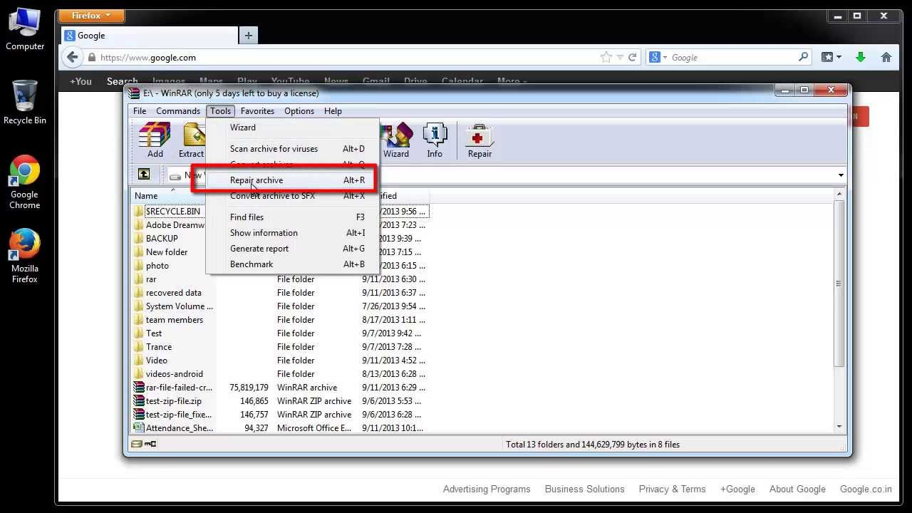 Fix CRC Error in RAR Files & Extract Data