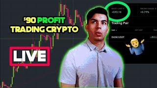 $90 Profit Trading Crypto! Bitcoin Technical Analysis