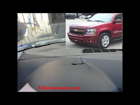 2011 Suburban Yukon Tahoe Texas Edition  Cracked Dashboard Fix Installation Video