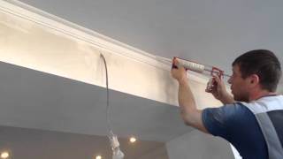 как красить карниз ( галтели ) под натяжной потолок! / how to paint the eaves(, 2016-03-21T19:08:41.000Z)