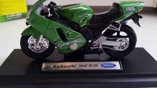 Welly 1:18 Kawasaki ZX 12R 2001 ninja обзор модели