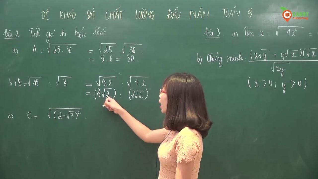 Đề khảo sát chất lượng đầu năm toán lớp 9