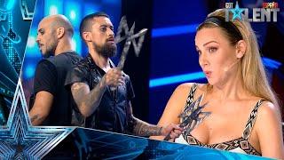 Un CUCHILLO cae cerca de la mesa del jurado en la actuación | Audiciones 1 | Got Talent España 2021