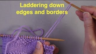 Knitting SOS: Laddering down a border to fix mistakes