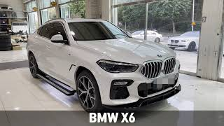 BMW X6 전동 사이드 스텝 장착 가족을 위한 배려 …