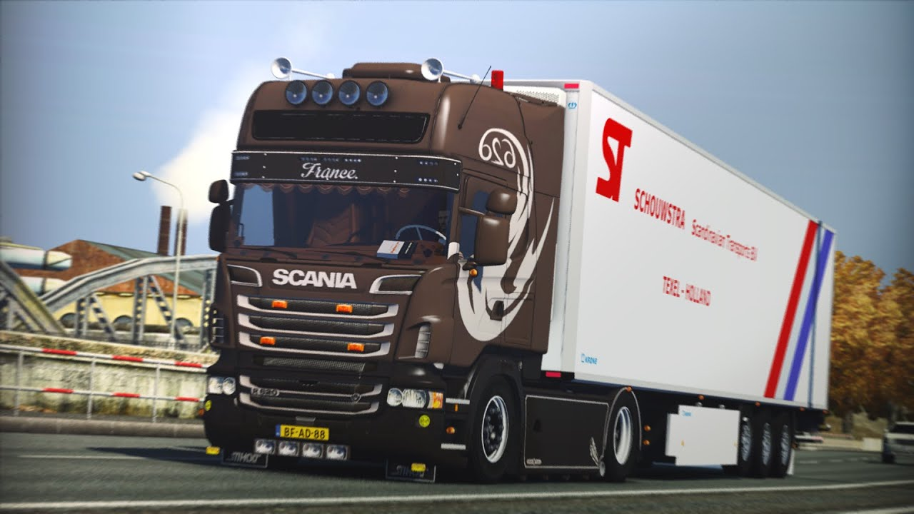 Connu ETS2] | Scania R620 V8 | Open pipe sound - YouTube UV12