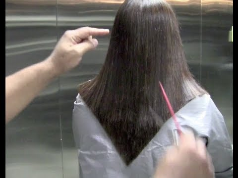 How To Cut A V Shape Haircut Step By Step Haircut Of A V Shape