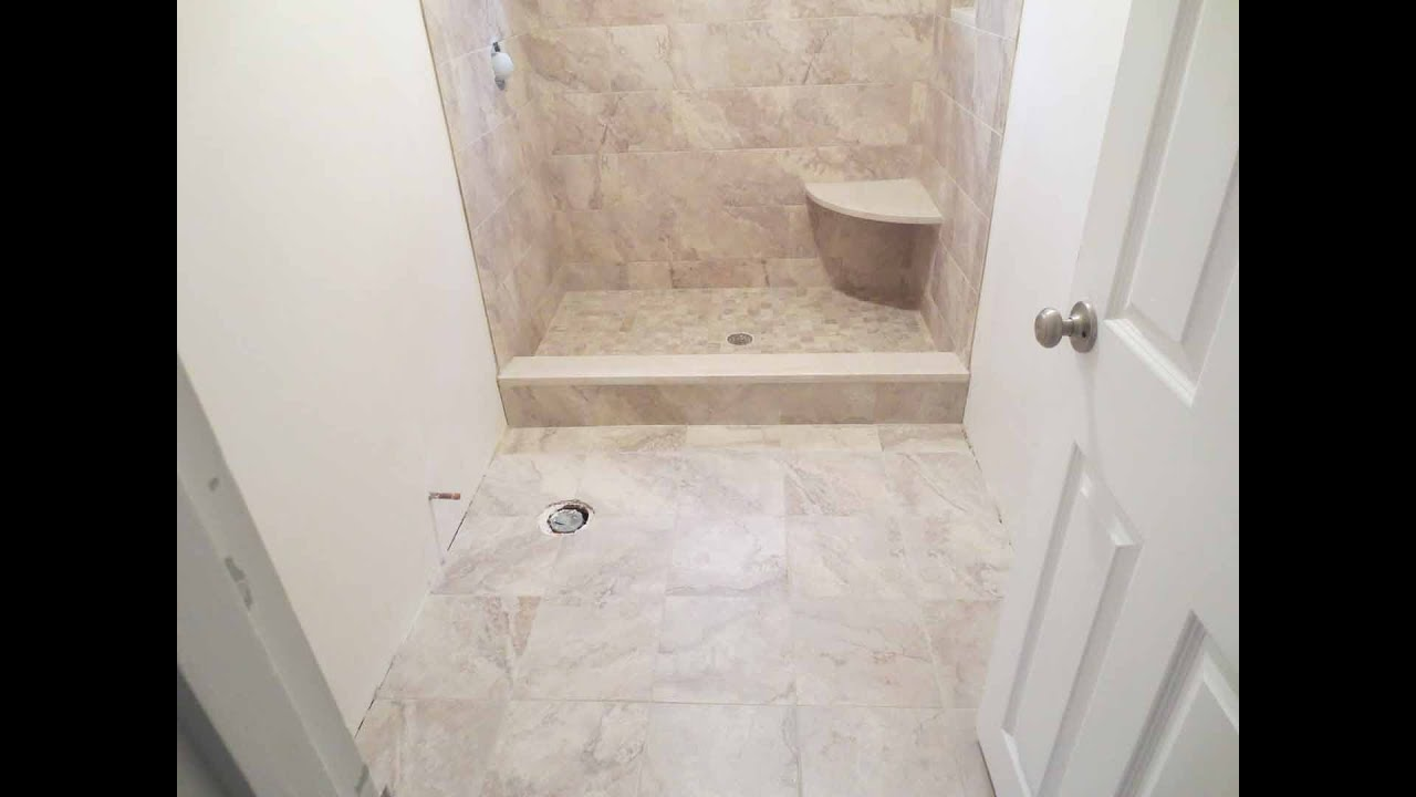 Part Tiled Bathrooms Complete Shower Install Studs To Tile Parts 1 Through 10 Youtube