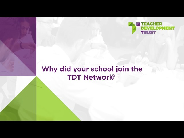 Why did your school join the TDT network?