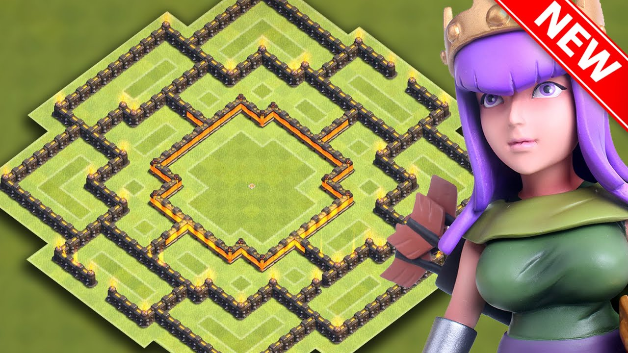 Hybrid base for new update best town hall 9 farming trophy base