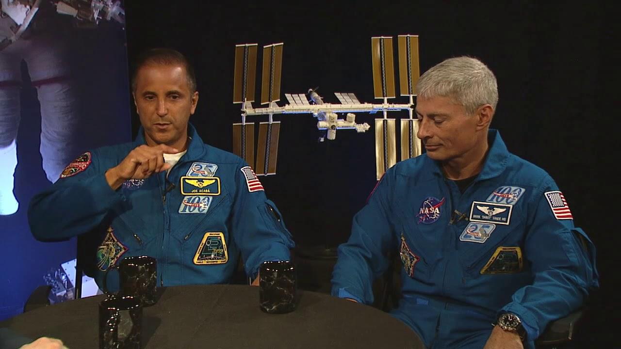NASA Administrator Bridenstine Chats with Astronauts Acaba and Vande Hei