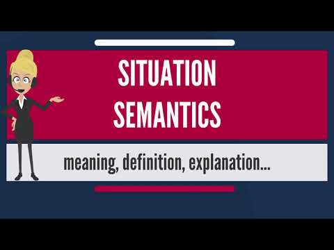 What is SITUATION SEMANTICS? What does SITUATION SEMANTICS mean? SITUATION SEMANTICS meaning
