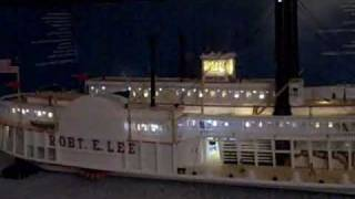 Paddle Steamer - Robert E. Lee Model fully lit with LED