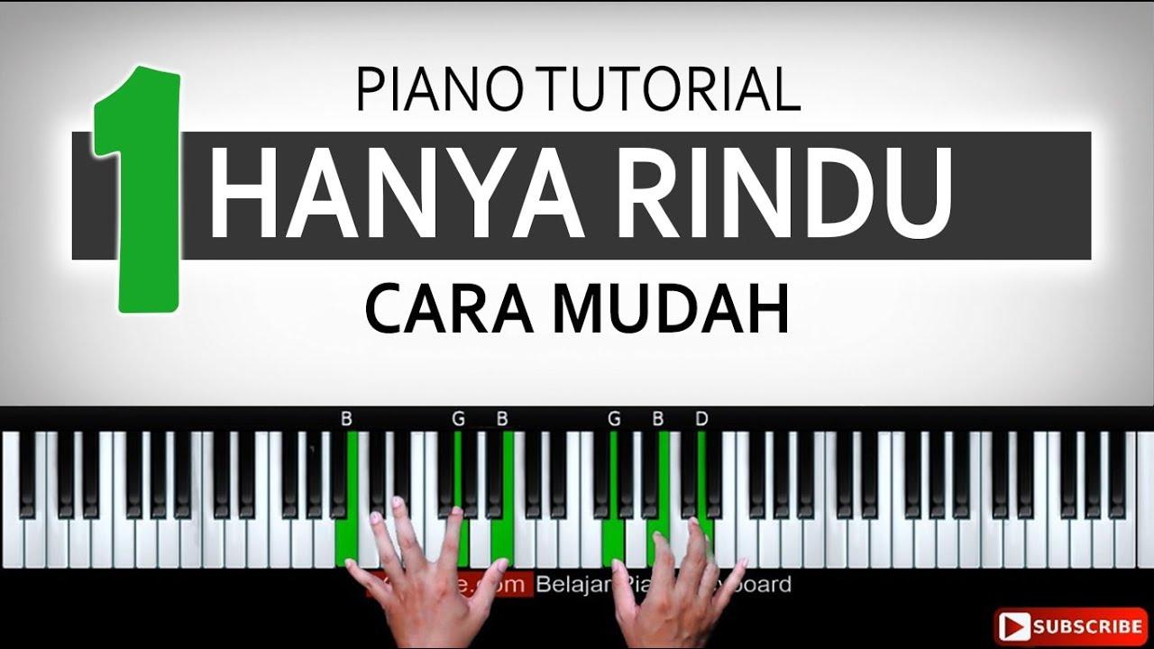 Hanya Rindu Tutorial Piano Mengiringi Belajar Piano Keyboard Youtube