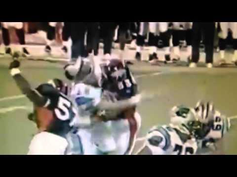 Bill Romanowski breaks Kerry Collins jaw