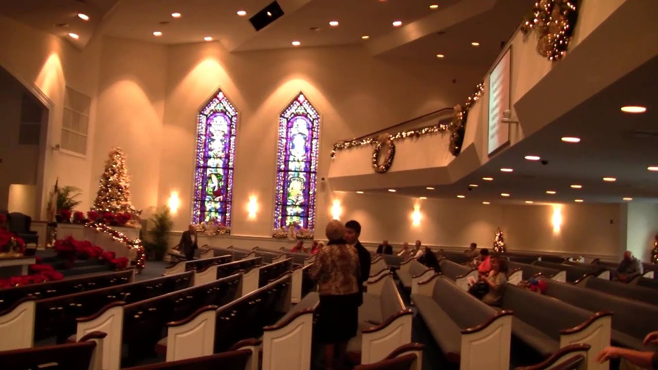 christmas decorations mount home baptist church morganton nc youtube - Christmas Decorating Ideas For Church Sanctuary