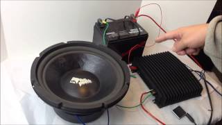 Rockford Fosgate Punch Pro SPP-124 Subwoofer Unboxing Demo Old School