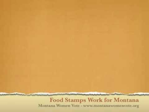 Food stamps work for montana youtube food stamps work for montana ccuart Images