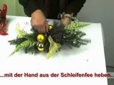 das weihnachtsgesteck youtube. Black Bedroom Furniture Sets. Home Design Ideas
