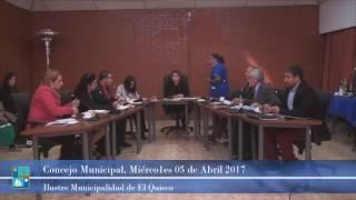 Concejo Municipal Miércoles 05 de Abril 2017