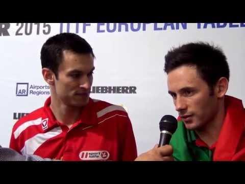 Fegerl Stefan and Monteiro Joao. Post-match interviews.