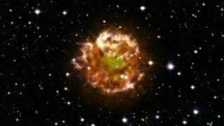 Cassiopeia A Supernova Explosion, artist