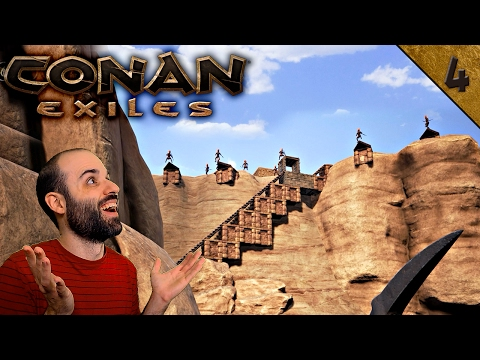 Conan Exiles #4 | RAIDEO INCREÍBLE Y ROBO DE ESCLAVOS | Gameplay Español