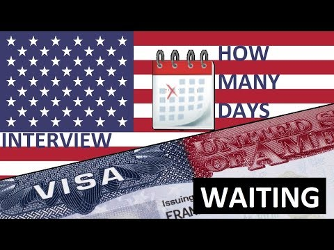 USA 🇺🇸 VISA 🕒 Appointment Wait Time
