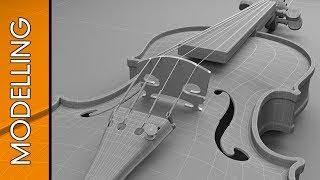 3D Studio Max - Speed modeling - Violin