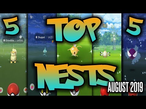 Top 5 Best Shiny Nests in Pokemon GO | August 2019 | Magikarp