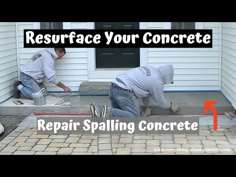 How To Repair And Resurface Spalled, Salt Damaged Concrete   Concrete Patio Repair