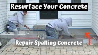 How To Repair And Resurface Spalled, Salt Damaged Concrete | Concrete Patio Repair