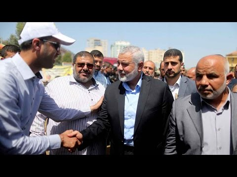 Hamas' new leader Ismail Haniyeh makes first public appearance