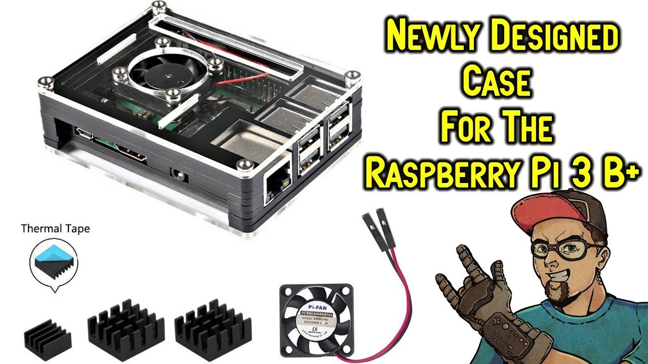 New Design Raspberry Pi 3 B Case With 3 Heatsinks Fan From