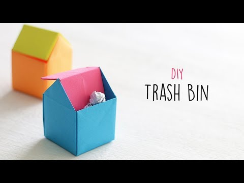 How to Make Trash Bin - DIY Trash Bin