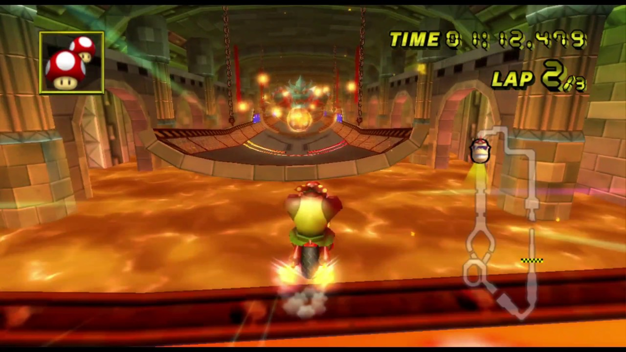 Mario Kart Wii How To Beat Bowser Castle Fast Staff Ghost