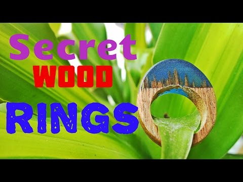 Cách làm nhẫn gỗ với resin -  Homemade secret wood rings