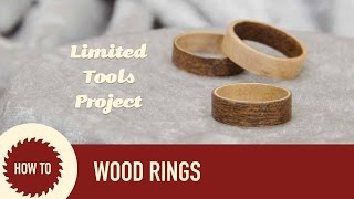 How To Make Wood Rings From Veneer
