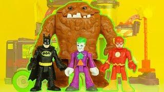 THE FLASH vs JOKER & CLAYFACE after they escape BATMAN superhero toys imaginext