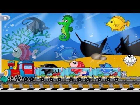 Học màu sắc tiếng Anh cùng Đoàn tàu nhỏ xíu - Video hoạt hình Game 3D ABC for kid