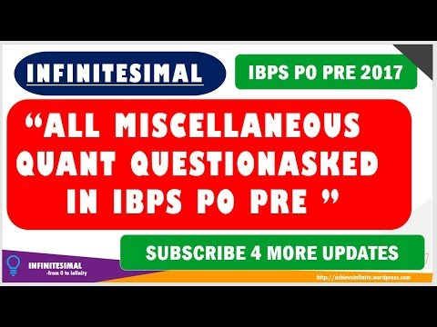 ALL MISCELLANEOUS QUESTIONS ASKED IN IBPS PO PRE 2017