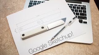 Drawing a knife with Google Sketchup