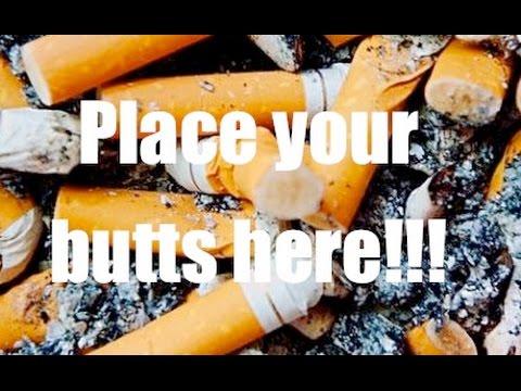 Cigarette Butt Outdoor Stand